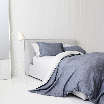 Everything Bed Linen Set- Denim/Mist - Paradoxe Linen