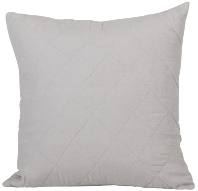 Diamond Quilted Cushion Cover- Pebble