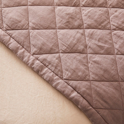 Diamond Quilted Blanket - Rose