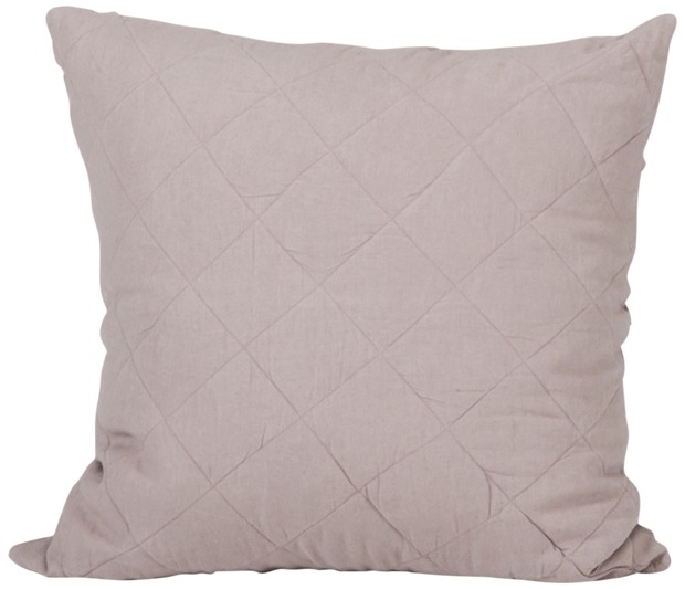 Diamond Quilted Cushion Cover - Rose