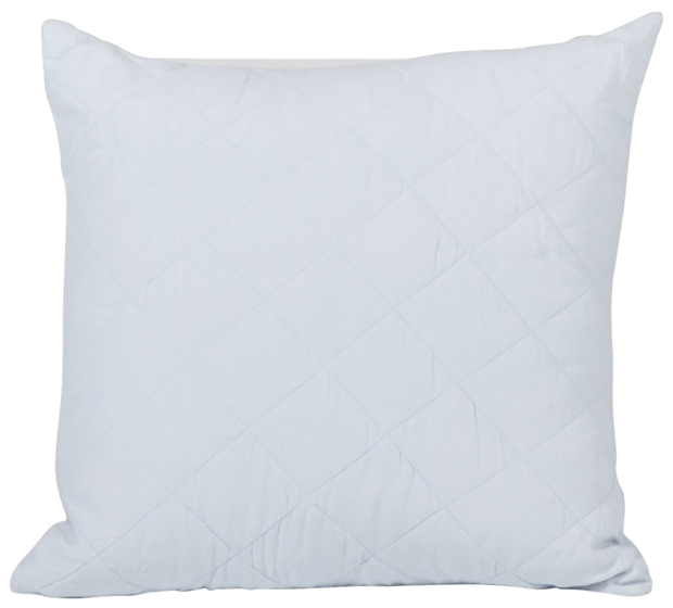 Diamond Quilted Cushion Cover - Sky Blue