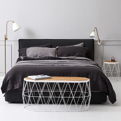 Everything Bed Linen Set- Storm/Black Caviar - Paradoxe Linen