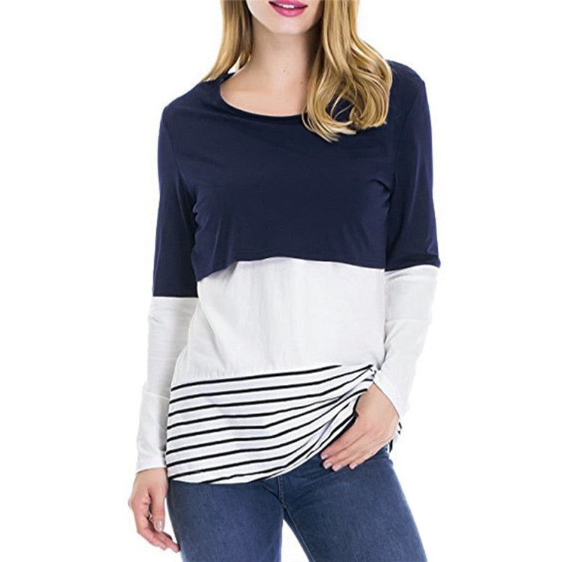 Maternity Clothes Nursing Tops