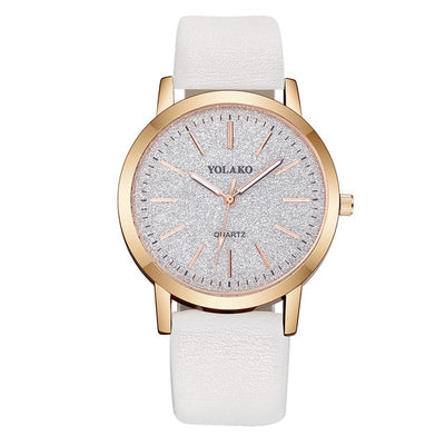 Geneva Faux Leather Analog Quartz Wrist Watch