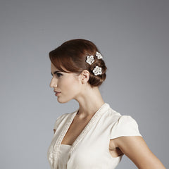 Gina Foster Millinery - Agatha - Bridal Flower Hair Pin