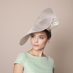 Gina Foster Millinery - Amalfi - Large Hat with Bow & Rose Trim