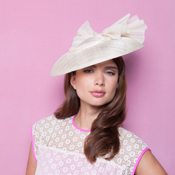 Gina Foster Millinery - Amaryllis - Medium Coulis Hat with Bow