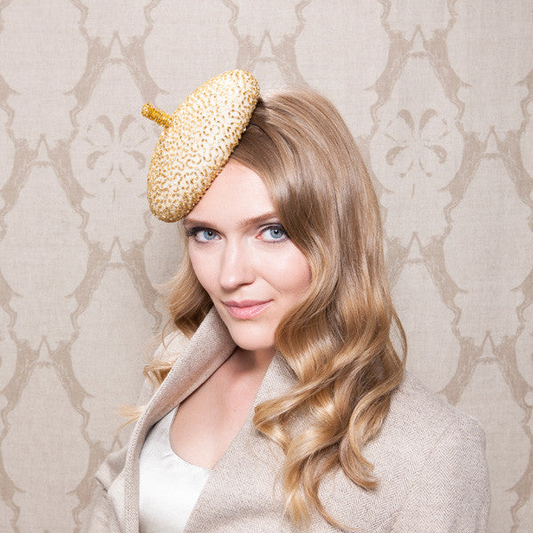 Gina Foster Millinery - Apsley - Small Beaded Cocktail Hat