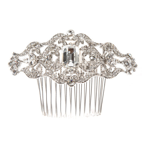 Gina Foster Millinery - Beatrice - Bridal Crystal Comb