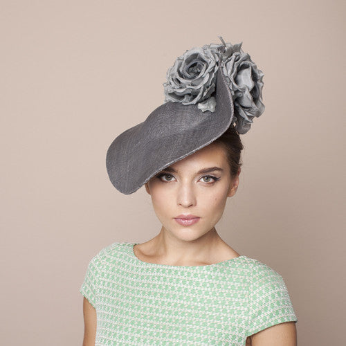 Gina Foster Millinery - Cardini - Large Hat with Roses