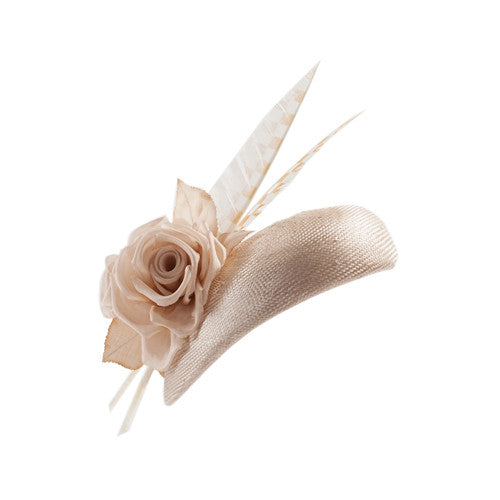 Gina Foster Millinery - Cavi - Beret Hat with Feathers and Roses