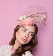 Gina Foster Millinery - Clementine - Medium Feather Cocktail Hat