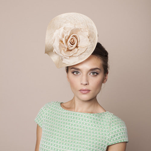 Gina Foster Millinery - Como - Medium Cocktail Hat with Roses