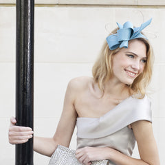 Gina Foster Millinery - Derry Street - Ribbon Fascinator with Quills