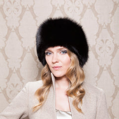 Gina Foster Millinery - Dudley - Fox Fur Hat