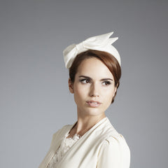 Gina Foster Millinery - Evie - Medium Pillbox Hat with Satin Bow