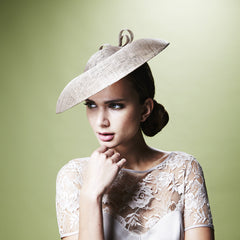 Gina Foster Millinery - Felicia - Medium Coulis Hat with Straw Bow