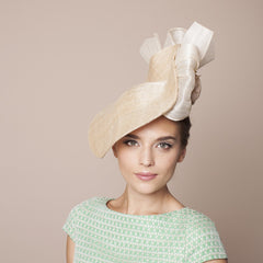 Gina Foster Millinery - Fiorino - Large Hat with Bow & Rose