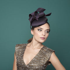 Flaine - Medium Cocktail Hat with Ribbons