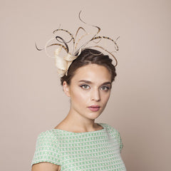 Gina Foster Millinery - Fornillo - Curled Feather Fascinator