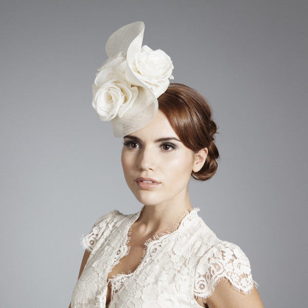 Gina Foster Millinery - Grace - Medium Cocktail Hat with Roses