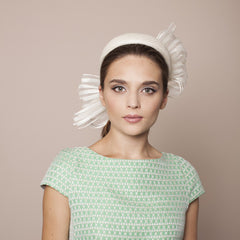 Gina Foster Millinery - Lavetto - Medium Pillbox with Striped Bow