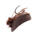 Les Arcs - Beret Hat with Pheasant Feather Trim
