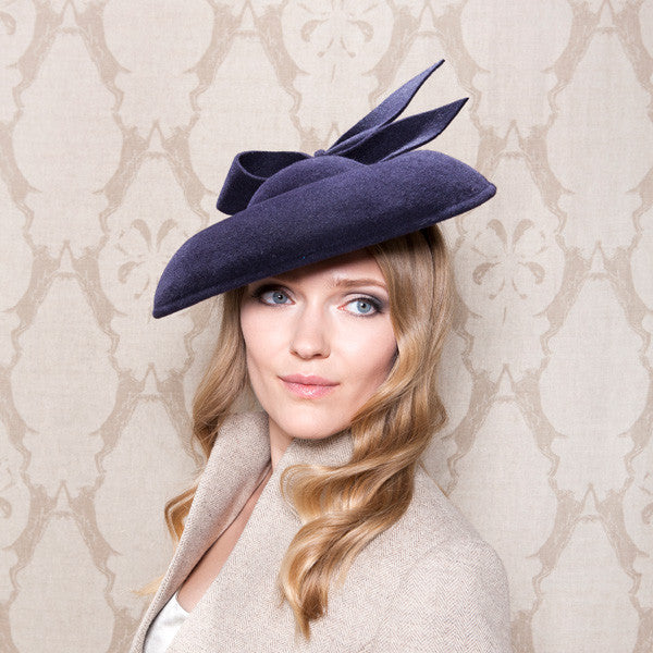 Gina Foster Millinery - Linley - Medium Felt Coulis with Bow