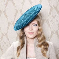 Gina Foster Millinery - Malplaquet - Large Velour Coulis Hat