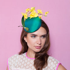 Gina Foster Millinery - Marigold - Small Silk Cocktail Hat
