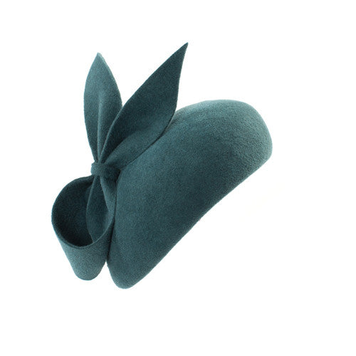 Meribel - Felt Beret Hat with Bow
