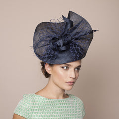 Gina Foster Millinery - Molini - Large Feather & Veil Hat