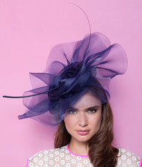 Gina Foster Millinery - Pansy - Large Crin Coulis Hat