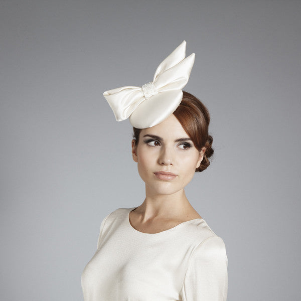 Gina Foster Millinery - Phoebe - Small Beaded Bow Cocktail Hat