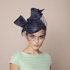 Gina Foster Millinery - Portofino Hat with Veil & Bow