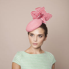 Gina Foster Millinery - Rimini - Striped Petal Medium Cocktail Hat
