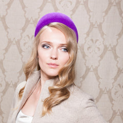 Gina Foster Millinery - Seaford - Medium Pillbox Hat with Flower Trim
