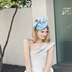 Gina Foster Millinery - Thackery Street - Medium Cocktail Hat with Ribbons