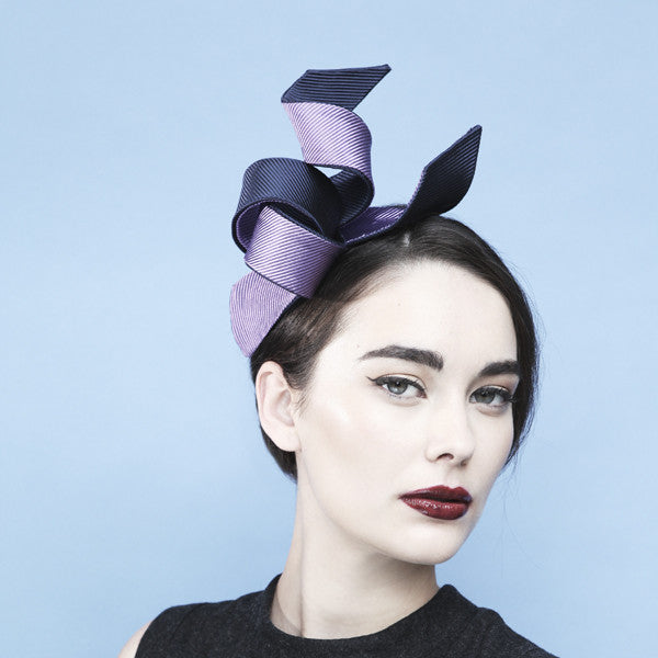 Gina Foster Millinery - Tiffany - Ribbons Fascinator