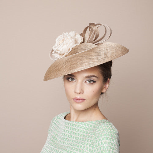 Gina Foster Millinery - Trapani - Medium Hat with Rose Trim