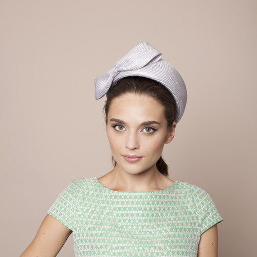 Gina Foster Millinery - Vettica - Medium Pillbox Hat with Bow Trim