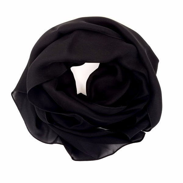 Black | Silk Georgette