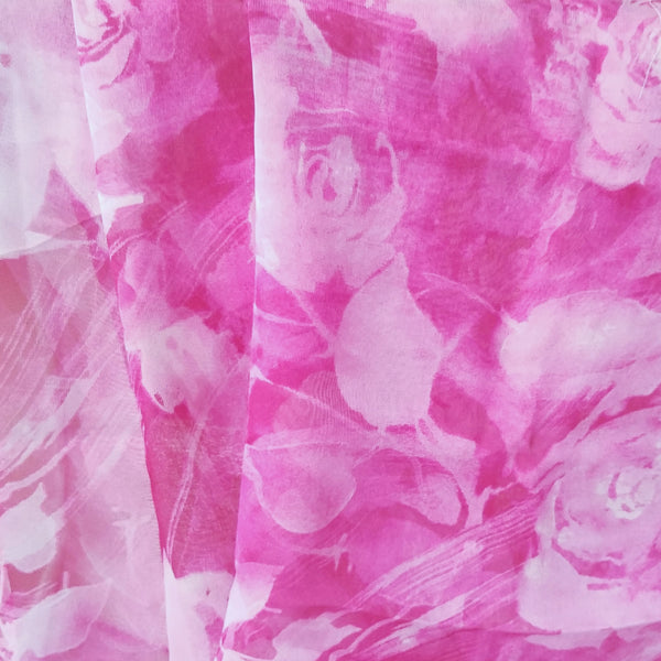 Pink Breeze  | Silk Chiffon