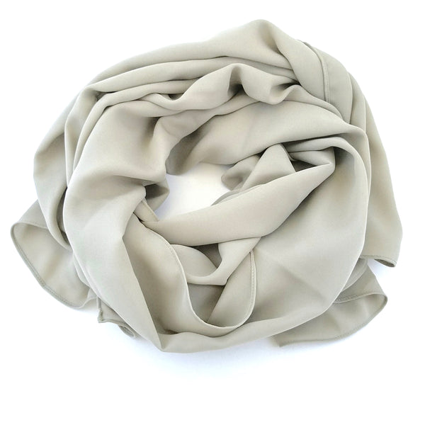 Light Taupe | Silk Georgette