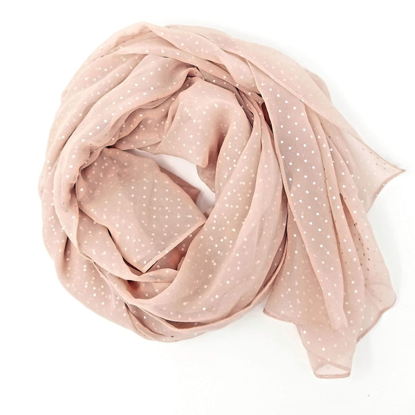Blush Sparkle | Silk Chiffon