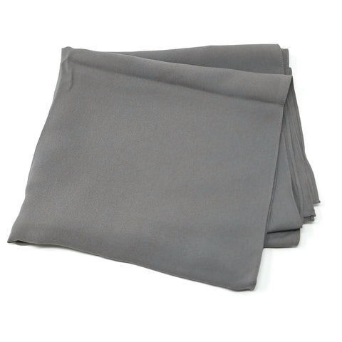 Pewter Gray | Silk Textured Crepe