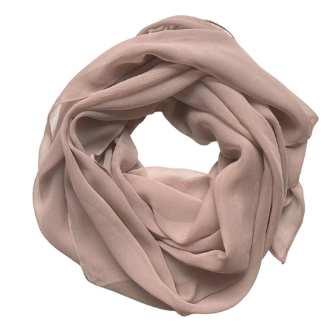 Gray Blush | Silk Crinkle Chiffon