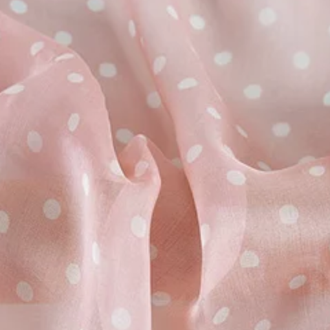 Blush Dots | Silk Chiffon