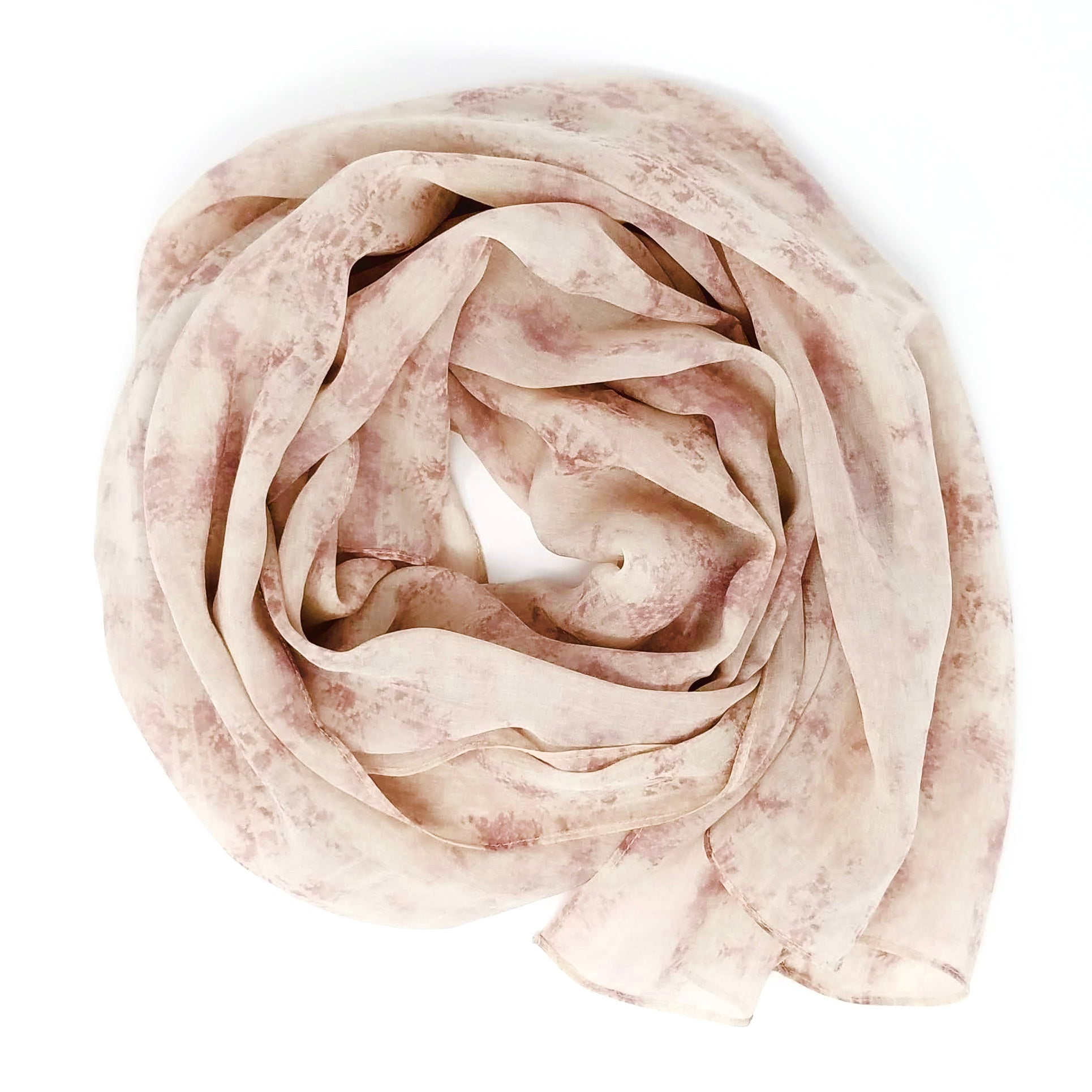 Misty Peach | Silk Chiffon