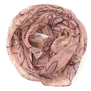 Blush Sketch Floral | Silk Chiffon